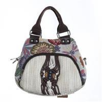 【米蘭精品】手提包棉麻側背包-民族風手工編織裝飾73ws49