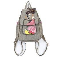 【米蘭精品】後背包棉麻雙肩包-民族風手工裝飾多隔層6款73ws7