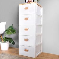 HOUSE 木天板-TODAY無印風衣物抽屜式收納櫃五層-白色