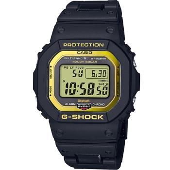 G-SHOCK 電波藍牙智能手錶(GW-B5600BC-1)黑x金