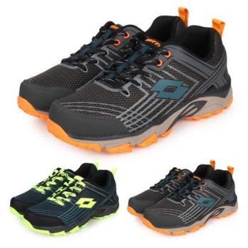 LOTTO 男防潑水越野跑鞋-寬楦 慢跑 走路鞋 健行