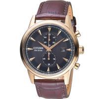 CITIZEN Eco-Drive 都會時尚腕錶(CA7008-11E)咖啡/ 43mm