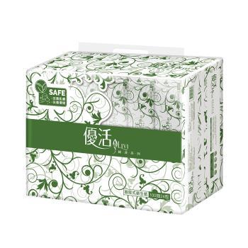 Livi 優活 抽取式衛生紙100抽x24包x4袋-箱