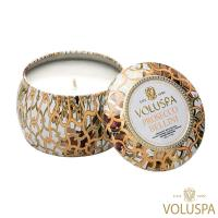 美國 VOLUSPA  Maison Blanc 白屋系列 Prosecco Bellini 普羅哥貝里尼 錫盒 113g 香氛蠟燭