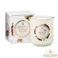 美國 VOLUSPA Maison Blanc 白屋系列 Prosecco Bellini 普羅哥貝里尼 浮雕玻璃罐 340g 香氛蠟燭