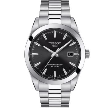 TISSOT GENTLEMAN 紳士的品格機械錶(T1274071105100)