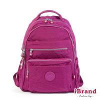 iBrand後背包 經典百搭超輕盈多口袋後背包-桃紫色 TGT-1604-紫紅