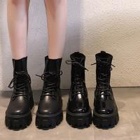 【Alice 】 (預購) 瘋時尚四季熱賣金釦機車短靴