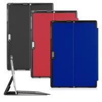 (組合)新Microsoft微軟12.3吋Surface Pro 4/5/6/7高質感通用型平板保護皮套+9H鋼化玻璃螢幕保護貼