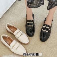 【Alice 】 (預購)韓典雅素面環扣時尚休閒鞋