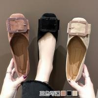 【Alice 】 (預購)典雅水鑽拼接方扣淑女鞋