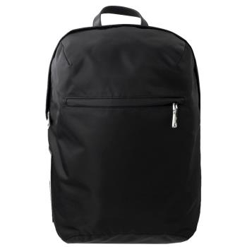 PRADA 2VZ021 TESSUTO 字母徽章造型尼龍大後背包.黑