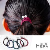 Hera 赫拉 雙層手工打結珍珠手圈/髮圈/髮束(五入組-不挑色)