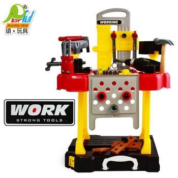 Playful Toys 頑玩具 電動工具套裝 108(兒童玩具 工具箱 角色扮演 工程師 維修台 益智拆裝 拉桿箱 行李箱 修理套裝)