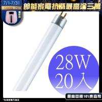 OSRAM歐司朗-28瓦 T5燈管 FH28W-20入(黃光/冷白光/晝光)