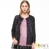 MONS法式蕾絲氣質鏤空開襟外套
