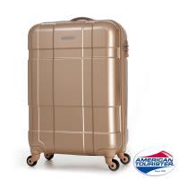 AT美國旅行者 22吋Ventura立體方格四輪拉桿TSA硬殼行李箱(香檳金)-BF8*05001