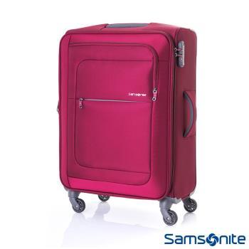 Samsonite新秀麗 24吋Populite四輪TSA超輕量可擴充布面行李箱(紅)-AA4*00002