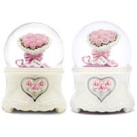 讚爾藝術 JARLL~永恆祝福(Best wishes)/(I love you) 水晶球音樂盒(2款可選) 愛情婚禮 情人禮物 (預購) 玫瑰花束