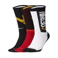 NIKE 男女運動襪-三雙入 長襪 襪子 滑板運動襪
