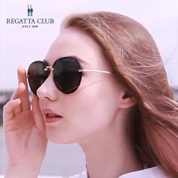 【REGATTA CLUB】經典黑優雅大框UV400偏光太陽眼鏡(女款)