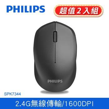 【Philips 飛利浦】光學無線滑鼠(SPK7344)