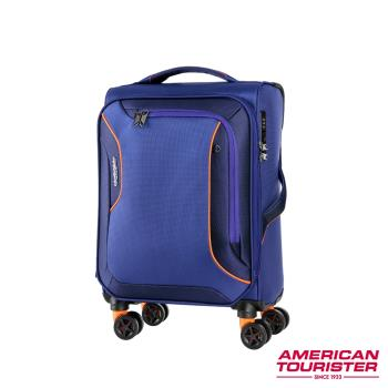 AT美國旅行者 20吋Applite 3.0S 輕量可擴充布面TSA飛機輪登機箱(藍紫)-DB7*61002