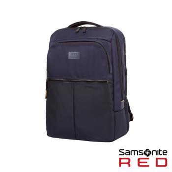 Samsonite RED ARVERN 防水拉鍊筆電後背包15.6(海軍藍)-GT4*41001