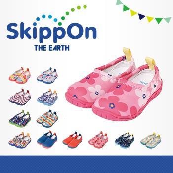 【日本SkippOn】「ISEAL VU系列」兒童休閒機能鞋〈北歐花朵 〉