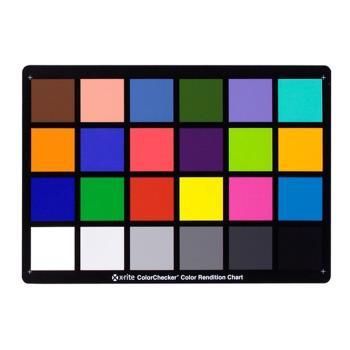 美國X-Rite校色卡白平衡卡ColorChecker Classic Card(24色塊:自然色/彩色/原色/18灰色)錄影攝影校正顏色板18%灰卡