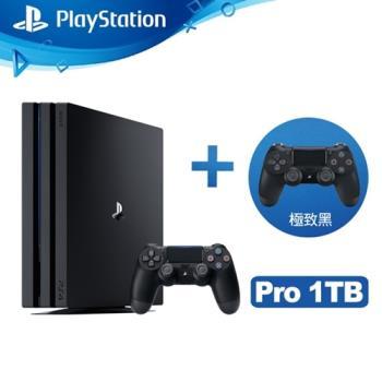 SONY PS4 Pro 1TB 雙手把主機同捆組-極致黑(ASIA-00369)-送SEGA 迷你復刻 Mega Drive Mini 主機