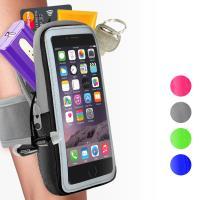 任-活力揚邑-防水透氣排汗反光跑步自行車手機觸控雙層運動臂包臂套臂袋-5.7吋以下通用-4色可選