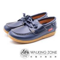 WALKING ZONE 時尚經典休閒帆船鞋 雷根鞋 女鞋 藍(另有咖)