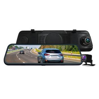 CARSCAM行車王 CR14全螢幕電子式觸控1080P後視鏡行車記錄器(贈16G)