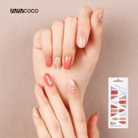 VAVACOCO-光感凝膠光療美甲貼片-橙橘閃耀20片