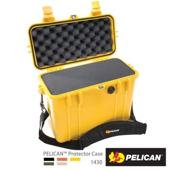 美國PELICAN1430氣密箱-含泡棉(黃)