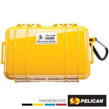 美國 PELICAN 1040 Micro Case 微型防水氣密箱-(黃)