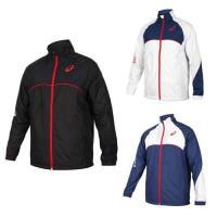 ASICS 男平織外套-防風  風衣 磨毛 保暖 運動外套 立領外套 亞瑟士