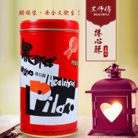 金德恩 台灣製造【黑師傅】捲心酥 400g x5罐-黑糖/咖啡
