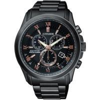 【CITIZEN 星辰】限量光動能羅馬萬年曆腕錶-棕(BL5545-50E)
