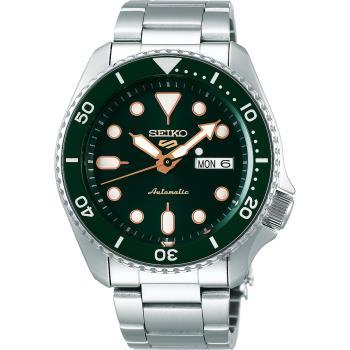 SEIKO 精工 5 Sports 系列機械錶-綠x銀/42.5mm 4R36-07G0G(SRPD63K1)