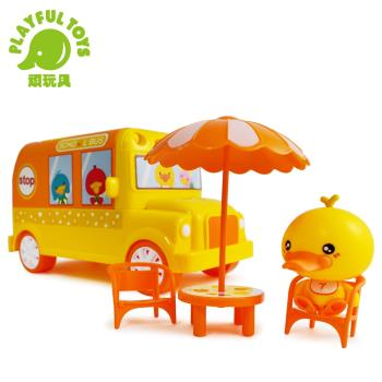 Playful Toys 頑玩具 小鴨聲光巴士 201A (鴨嘴獸 故事機 家家酒 幼兒啟蒙 早教認知 餐車遊戲 音樂玩具車)