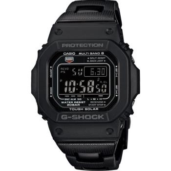 CASIO G-SHOCK 世界六局電波太陽能數位電子錶-黑(GW-M5610BC-1D)