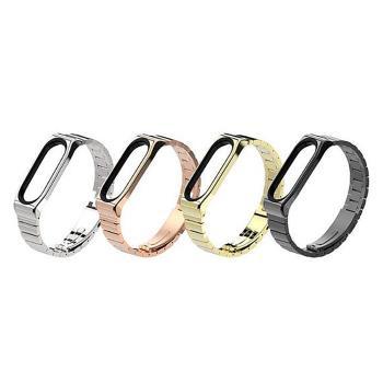 mijobs 小米手環 4 / 手環 3 不鏽鋼腕帶(竹節款)