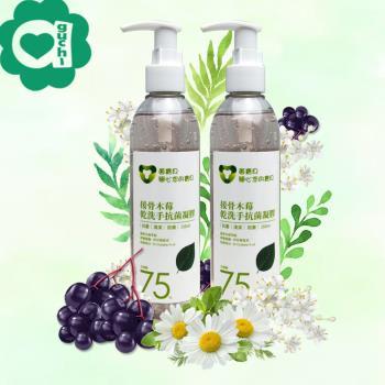 菌寶貝接骨木莓乾洗手抗菌凝膠 500ml(250mlX2瓶) 含酒精75%及抗菌成份 O-Cymen-5-ol