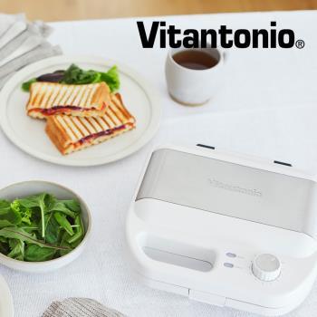 日本Vitantonio 小V多功能計時鬆餅機 VWH-500B-W 雪花白 (附方型鬆餅+多用途吐司烤盤)