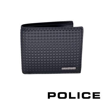 [POLICE] 義大利頂級精品 頂級精品小牛皮8卡男用皮夾(金字塔系列)