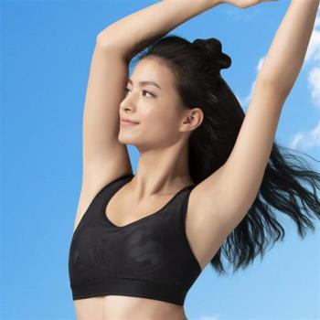 華歌爾 放膽穩型 C-E 罩杯專業運動內衣 (黑)