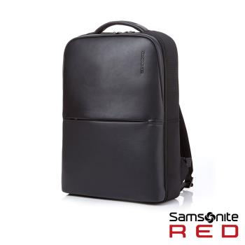 Samsonite RED NEUMONT 3 商務極簡皮革筆電後背包15.6吋(黑)GY0*09001
