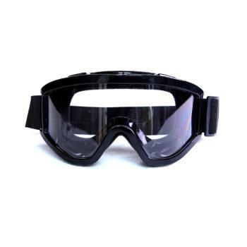 黑色橡膠防風護目鏡(防噴濺防唾沫防沙粒.可內戴眼鏡)-1入